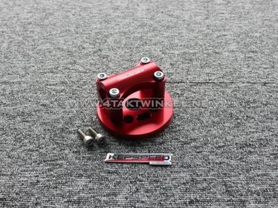 Kroonplaat C50, voor 22mm stuur, rood