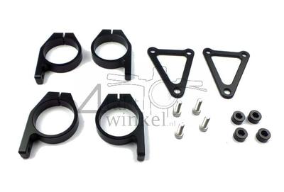 Koplamporen, universeel, CNC aluminium, 45mm, Kepspeed, open, zwart