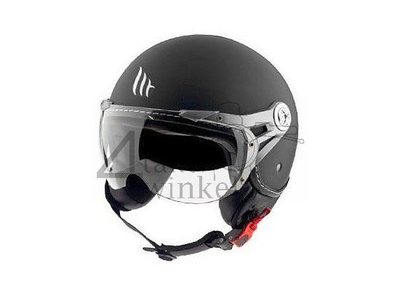 Helm MT, Le Mans Soul Retro zwart , Maten S t/m XXL
