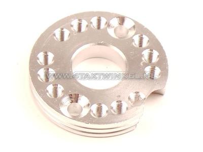 Draaiplaat voor carburateur aluminium, blank, 22mm