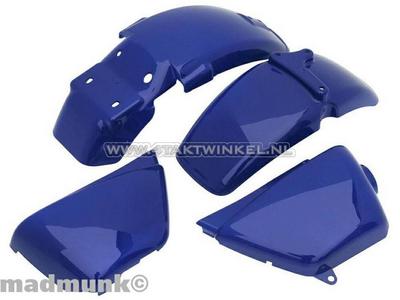 Spatbordset, Ape 50, Ape 125, met kapjes, blauw