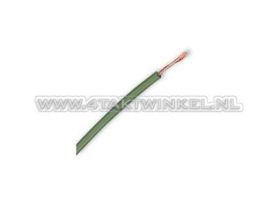 Fil électrique par mètre, 0,75 mm2, groen