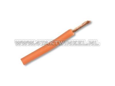 Fil électrique par mètre, 0,75 mm2, orange