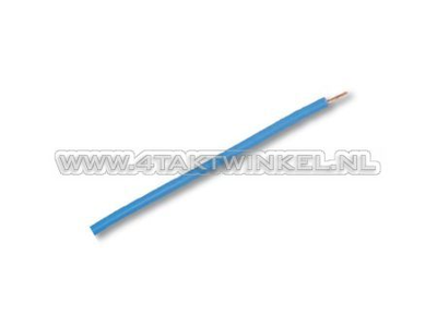 Fil électrique par mètre, 0,75 mm2, bleu clair