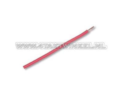 Fil électrique par mètre, 0,75 mm2, rouge