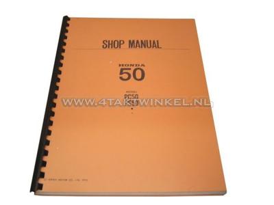 Werkplaatsboek, Honda PS50, PC50 Engels