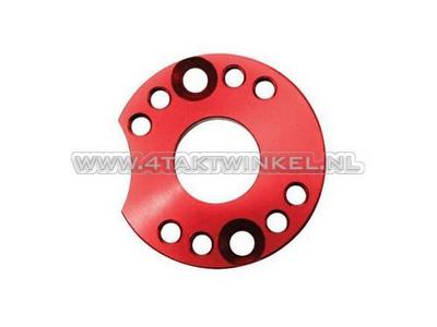 Draaiplaat voor carburateur aluminium, rood