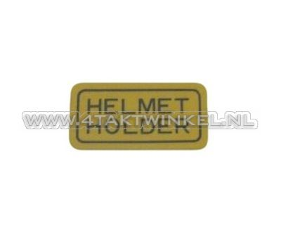 Sticker helmet holder, origineel Honda
