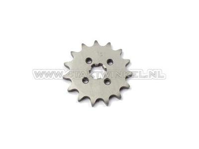 Pignon avant, 420 chaîne, 17mm, axe, 15, SS50, C50, Dax