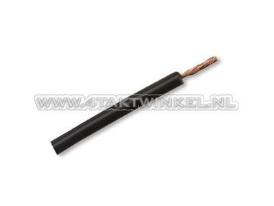 Fil électrique par mètre, 0,75 mm2, noir