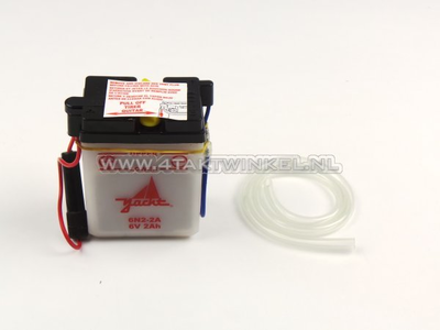 Accu 6 volt 2 ampere, SS50, zuur accu, imitatie