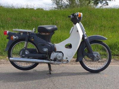 VERKOCHT ! Honda C50 OT Japans, grijs, 2565 km