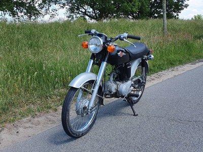 Verkocht! Honda CD50s benly Japans, Zwart, 2338 km