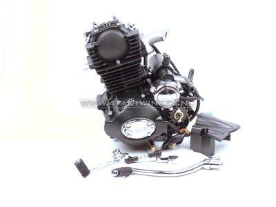 Moteur, 50cc, embrayage manuel, Lifan, (Mash) 4 vitesses, cylindre debout, avec démarreur, noir