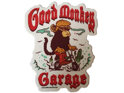 Autocollant de garage Good Monkey # 1