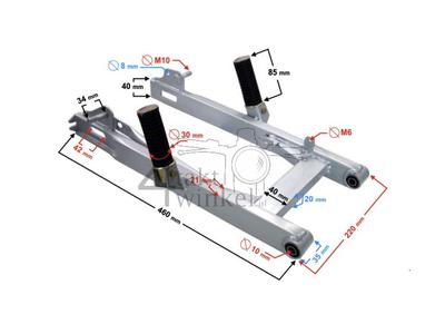 Bras oscillant C50, C70, C90, SS50, CD50 carré en acier, avec marches