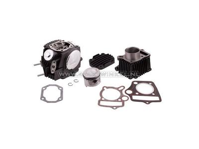 Kit de cylindre, avec piston et joint et culasse 70cc, AGM, Hanway, Skyteam, avec connexion EGR, noir