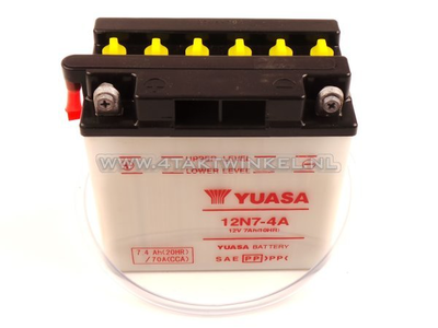 Batterie 12 volts 7 ampères acide, 12N7-4A, Mash Fifty, Yuasa