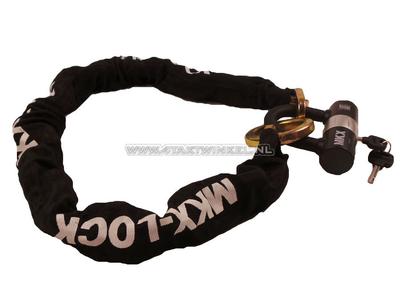 Antivol à chaîne, MKX, 120cm, avec rondelle ART 4