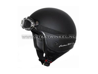 Casque MT, Custom Rider, noir mat, tailles S à XL