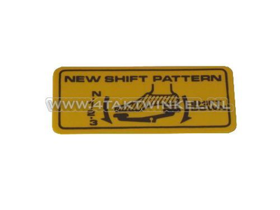 Sticker C50 shift pattern, N-1-2-3