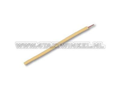 Fil par mètre 0,75 mm2, jaune