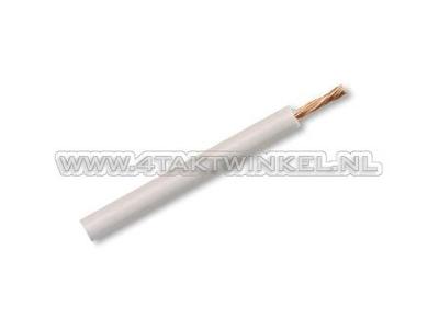 Fil par mètre 0,75 mm2, blanc