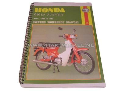 Werkplaatsboek, Honda C50 automaat, kopie