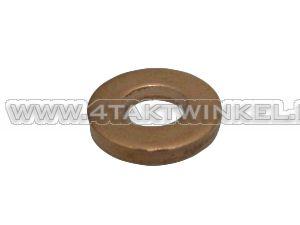 Rondelle 6 mm, cuivre, épais, d'origine Honda