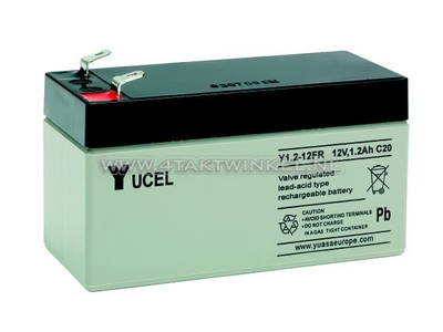 Batterie 12 volts 1,2 ampère gel Yucel