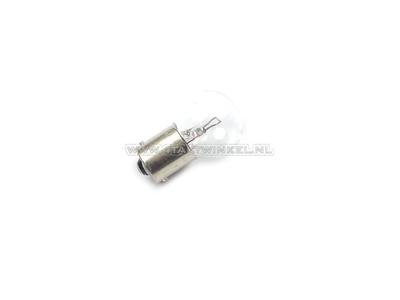 Ampoule BA15-S, simple, 6 volts, ampoule moyenne 18 watts