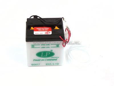 Batterie 6 volts 5,5 ampères, C90 OT