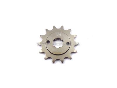 Pignon avant, chaîne 415, axe 17 mm, 14, C310, PC50, PS50