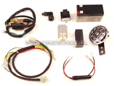 Kit de connexion CDI et 12 volts inclus pour conversion cyclomoteur 6 volts