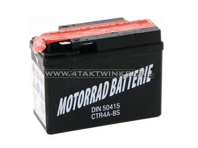 Batterie 12 volts 4 ampères, CTR4A-BS Benly, Monkey