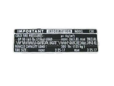 Informations sur les pneus de protection de chaîne Sticker C50