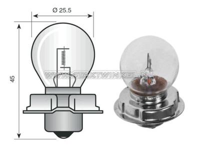 Phare P26S, 12 volts, 15 watts, e.a  CB50, CY50