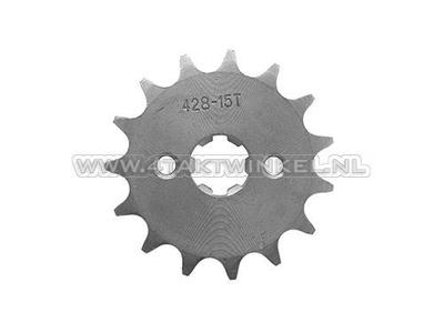 Pignon avant, chaîne 428, axe 17 mm, 15 mm, Mash, AGM, Hanway