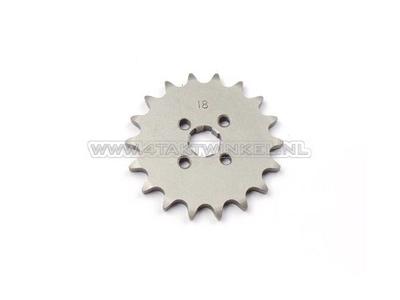 Pignon avant, chaîne 420, axe 17 mm, 18, SS50, C50, Dax