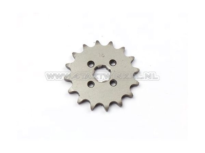 Pignon avant, chaîne 420, axe 17 mm, 16, SS50, C50, Dax