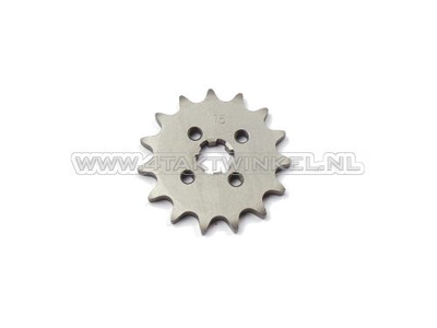 Pignon avant, chaîne 420, axe 17 mm, 15, SS50, C50, Dax