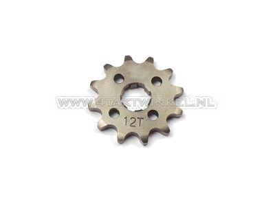 Pignon avant, chaîne 420, axe 17 mm, 12, SS50, C50, Dax