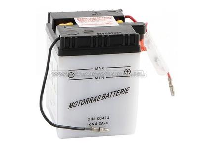 Batterie 6 volts 4 ampères, C50, CB50, batterie acide, imitation