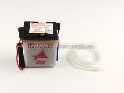 Batterie 6 volts 2 ampères, SS50, batterie acide, imitation