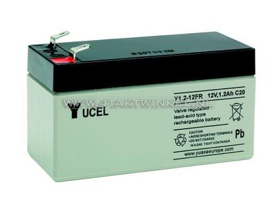 Batterie 12 volts 1,2 ampère gel Yucel