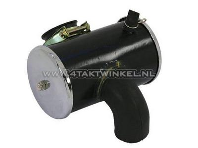 Boîtier de filtre à air, Dax, complet, chromé, imitation