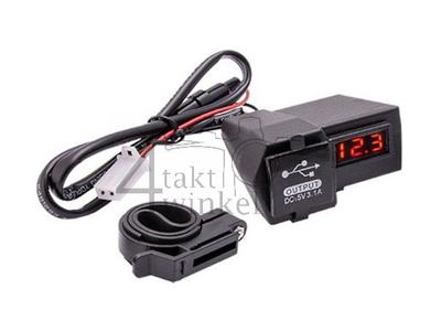 Chargeur USB avec 2 fonctions pour cyclomoteur 12 volts