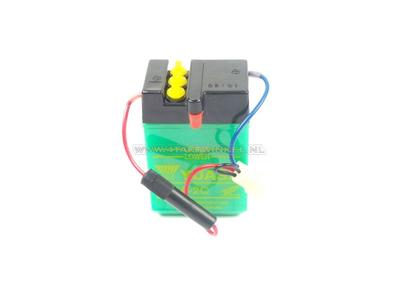 Batterie 6 volts 2 ampères, Dax, NOS, d'origine Honda