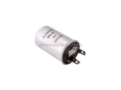 Relais clignotant 6 volts 10 à 21 watts cylindre lumières