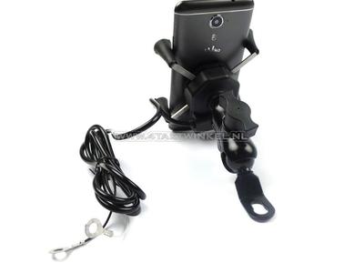 Chargeur USB, support de téléphone, pour cyclomoteur 12 volts